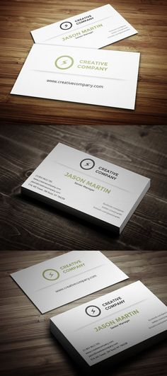 Business card - perfect for any idustry. x with bleed) 300 DPI CMYK Print Ready! - Full Editable, Layered you can find fonts Find Fonts, Creative Company, Business Cards, Cards Against Humanity, Design, Lipsense Business Cards, Name Cards, Visit Cards