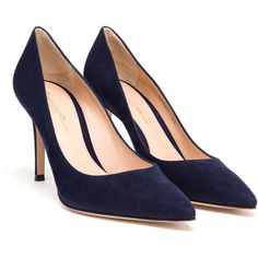Gianvito Rossi Suede Gianvito Pumps ($525) ❤ liked on Polyvore featuring  shoes, pumps. Zapatos De ...