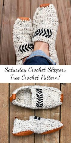 [Free Pattern] Saturday Crochet Slippers: Visit site and follow free crochet pattern! #crochet #slippers #craft