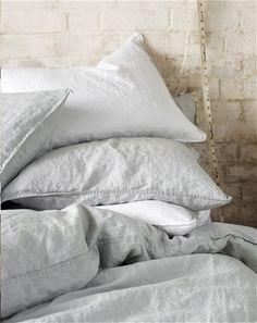 white grey linen