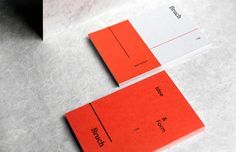 """Studio Branding by Bruch """"The branding for Bruch is a reference to the name and the tagline """"Idee&Form"""". Defined shapes, color and…"""