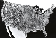 The first photo of the United States by NASA satellite