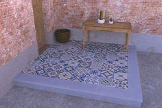 Tuintegels :: Gecoate Tegels :: Mosaic Oase 60x60x4 - Lek Tuinmaterialen