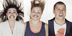 """Creative portrait photography...Images from """"Blow Job"""" by Tadao Cern..."""