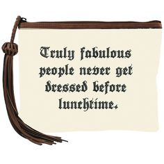 Canvas Tassel Clutch - Truly Fabulous People just bought