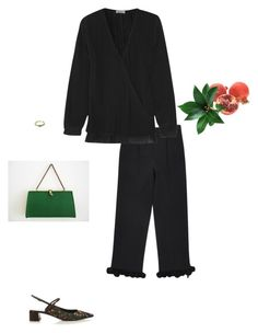 """future starts slow"" by pieaah ❤ liked on Polyvore featuring Erdem and Totême"