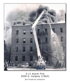 Historic Chicago fire photo featuring Snorkel