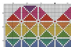 Geometric Heart Cross Stitch Chart - Quick and Easy Bright Modern Pattern for 14 Count using Bright Rainbow Colours for DMC Thread PATTERN Geometric Heart Cross Stitch Chart Quick and Easy Cross Stitch Geometric, Geometric Heart, Modern Cross Stitch Patterns, Cross Stitch Heart, Cross Stitch Cards, Cross Stitching, Cross Heart, Embroidery Hearts, Cross Stitch Embroidery