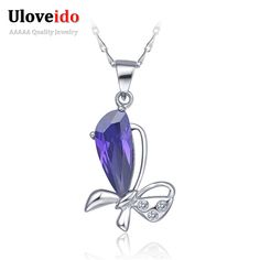 Find More Pendant Necklaces Information about 2015 Big Supplies For Jewelry Pendants Necklaces For Women Silver Plated Chains Accessories Purple CZ Diamond Love Jewelry N276,High Quality necklace china,China necklace africa Suppliers, Cheap necklace letter from Ulovestore Fashion Jewelry on Aliexpress.com