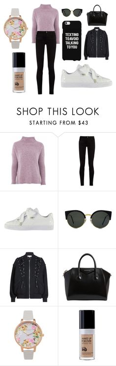 """""""Sans titre #4789"""" by merveille67120 ❤ liked on Polyvore featuring Topshop, Gucci, Puma, RetroSuperFuture, Samsung, IRO, Givenchy and Olivia Burton"""