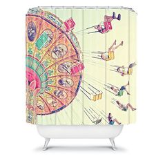 DENY Designs Shannon Clark Dizzying Heights Fabric Shower Curtain