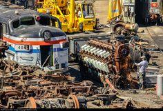 Abandoned Train, Abandoned Cars, Ho Trains, Model Trains, Industrial Photographs, Diesel Locomotive, Locomotive Engine, Motor Diesel, Pennsylvania Railroad