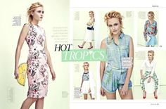 Floral prints and summer looks for Notebook magazine. Hair by Jason Crozier, CrozNest in residence at No74 Hair & Beauty