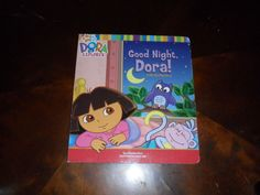 Good Night Dora! A Lift-The-Flap Story Book Used Condition