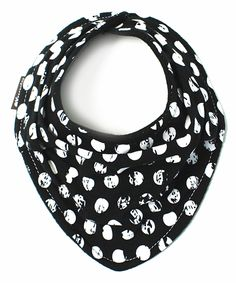 Look at this Black & White Polka Dot Scarf Bib on #zulily today!