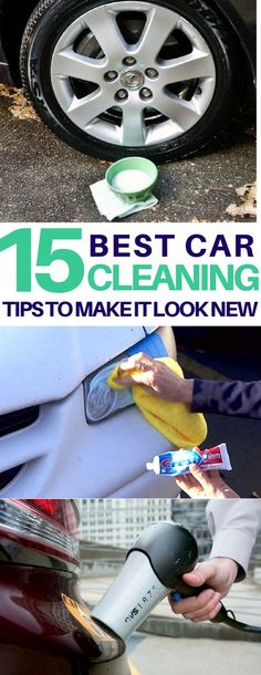 Genius car cleaning hacks I must try on my dirty car! How to clean headlights, tires, get rid of bumper stickers and more amazing car cleaning tips & tricks using things I already have! Car Cleaning Hacks, Deep Cleaning Tips, Car Hacks, Toilet Cleaning, House Cleaning Tips, Cleaning Solutions, Spring Cleaning, Hacks Diy, Cleaning Products