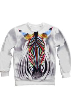 Muliticolor Zebra Print Loose SweatshirtOASAP Giveaway, 10 pieces per day, till the end of 2014! Easiest way to get free clothing!