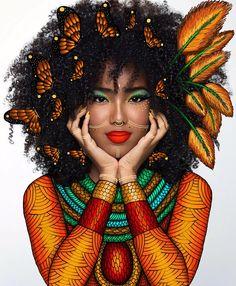 Love of Art. Black Love Art, Black Girl Art, My Black Is Beautiful, Black Girl Magic, Art Girl, Black Girls, Black Women, African Girl, African American Art