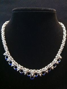Byzantine with Beads Chainmaille Necklace  by FolorsFantasy, $69.00