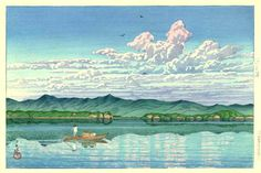 'Lake Hamana' by Kawase Hasui, 1931 (published by Watanabe Shozaburo)