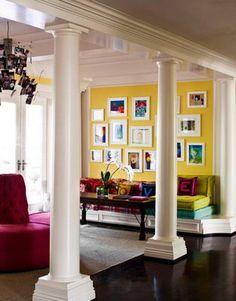 Bright yellow wall.