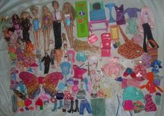 Barbie Doll Lot Baby Clothes Shoes Furniture Accessories Dog Cat Wings Toy Dress | eBay