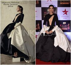 cool Celebrity Style,sonam kapoor,rhea kapoor,Screen Awards 2017,Stéphane Rolland... Celebrity Style Check more at http://pinfashion.top/pin/58872/