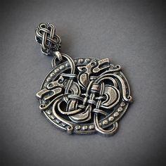 Bronzeanhänger Keltischer Adler Schmuck Vogel Kelten Celtic Knoten Bronze