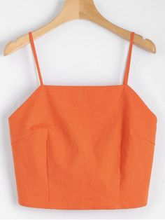Cut Out Bowknot Cropped Tank Top - ORANGEPINK S