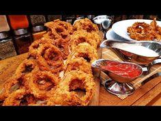 Rántott hagymakarikák mártogatóssal 2 fajta morzsában / Szoky konyhája / - YouTube Onion Rings, Waffles, Keto, Cooking, Breakfast, Ethnic Recipes, Youtube, Food, Baking Center