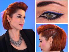 Coiffure et maquillage Glam-rock pour votre soirée de Nouvel An  New Years Eve look Hair & Makeup