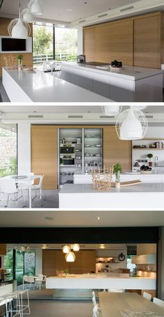 A Contemporary Kitchen In A Home By Nico Van Der Meulen Architects