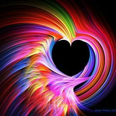 images of rainbow colored fractal art - Yahoo Image Search Results Rainbow Heart, Over The Rainbow, Rainbow Things, Rainbow Swirl, Neon Rainbow, Rainbow City, Rainbow Stuff, I Love Heart, Color Heart