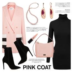 """Hey, Girl: Pretty Pink Coats"" by littlehjewelry ❤ liked on Polyvore featuring MaxMara, Doublju, ALDO, Kate Spade, MAC Cosmetics, contestentry, pinkcoats, pearljewelry and littlehjewelry"