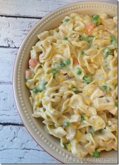 Great use for Turkey Leftovers!  Chicken Noodles Casserole #thetaylorhouse #chickennoodles