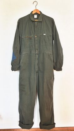 Vintage Lee Union-Alls Coveralls Army Green sz.44 Long Mens