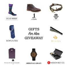 Enter to win our Gifts For Him Giveaway and win all of these amazing menswear pieces. One winner will be announced on 12/22/2016.