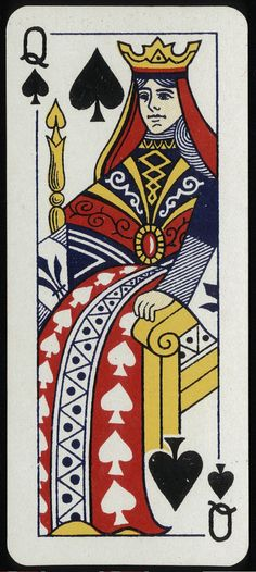 Queen of spades. Universal italian playing cards 780, England 1950 #PlayingCards - Carefully selected by GORGONIA www.gorgonia.it