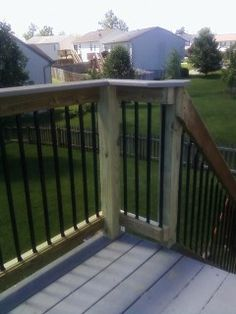 balusters metal deck rail hand rail wrought iron low cost - Cincinnati, OH Deck Balusters, Porch Railings, Metal Deck, Backyard, Patio, Outdoor Areas, Wrought Iron, Cincinnati, Porches