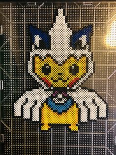Custom made by yours truly:) Hama Beads Pokemon, Diy Perler Beads, Perler Bead Art, Pearler Bead Patterns, Perler Patterns, Pokemon Cross Stitch, Mini Iron, Friendship Bracelets Designs, Minecraft Pixel Art