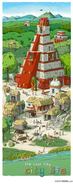 City life. the Lost City by Andrey Koval, via Behance