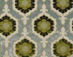 """2013 Pierre Frey  """"Bartholomeo"""" in Printemps, velvet on cotton satin"""