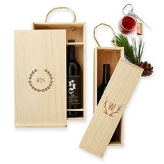 Brandy and Wine. Tips And Tricks For Learning Everything Possible About Wine. There is a lot of different wine on the market. You might think you do not like wines, but you haven't tried them all. Wood Box Design, Wooden Wine Crates, Mark And Graham, Personalized Christmas Gifts, Personalized Wine, Wooden Gifts, Wine Gifts, Wood Boxes, Wine Shipping