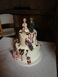 The Walking Dead | 19 Spectacularly Nerdy Wedding Cakes