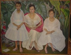 "Diego Rivera, ""Familia Veracruzana con trajes papantlecas"" , 1957"