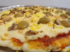 pizza para celíacos Vegan Gluten Free, Gluten Free Recipes, Vegan Breakfast, Breakfast Recipes, Pizza Sin Gluten, Lunch Recipes, Healthy Recipes, Sem Lactose, Slow Food