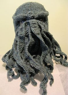 PATTERN Cthulhu Ski Mask Pattern Knit and by n2Imaginations