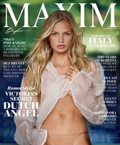 Romee Strijd goes sexy in a cover story for the October 2016 issue of Maxim magazine.…