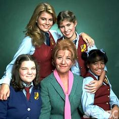 "The Facts of Life: Sitcom that originally ran from August 1979 to May 1988. A spin-off of the sitcom Diff'rent Strokes, the series' premise focused on Edna Garrett as she becomes a housemother at the fictional Eastland School, an all-female boarding school in Peekskill, New York. The girls in her care included spoiled rich girl Blair Warner; the youngest, gossipy Dorothy ""Tootie"" Ramsey; overweight, impressionable Natalie Green; and streetwise-but-vulnerable Jo Polniaczek."