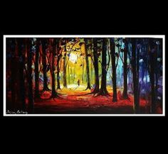 rainbow and trees! my fav! walk in the old forest 48 original jolinas by jolinaanthony